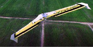 Raven AgEagle UAS above a field