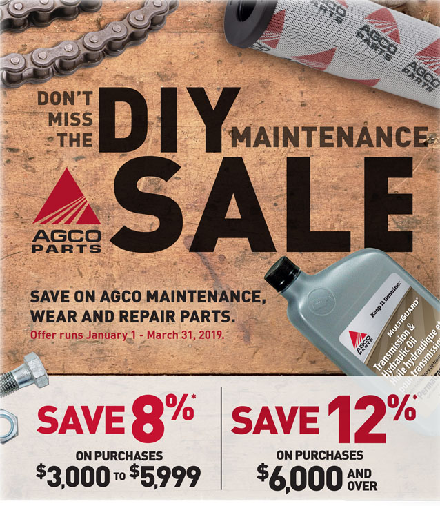 DIY Maintenance Sale