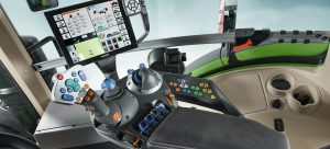 "Example of the Fendt VarioTerminal with 10.4"" monitor. Technology found on Fendt 1038, Fendt 1042, Fendt 1045 and Fendt 1050 tractors. See inside the cab of a Fendt 1000 Series tractor."