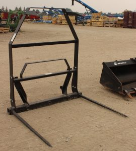 Dual Bale spears for sale in Lethbridge, Alberta. BE dual bale spear with back available at Hanlon Ag Centre. Bale spears for sale in Lethbridge.