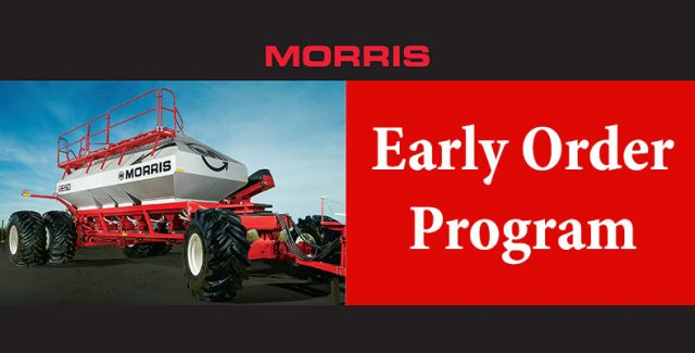 morris seeding system, morris early order program, morris air drill, morris equipment, air drill for sale, seeding system for sale