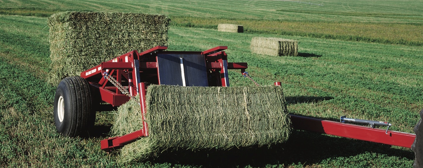 New Bale Scoop for sale at Hanlon Ag Centre in Lethbridge, Alberta, Canada. Hay and forage equipment bale stacker