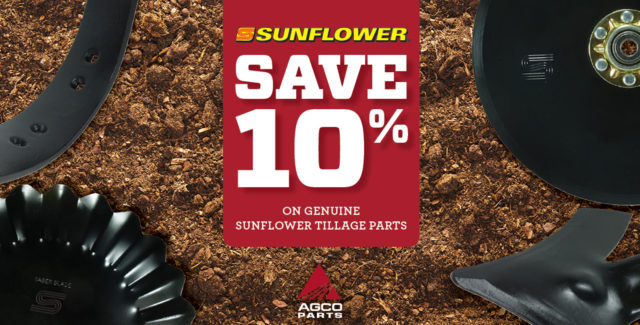 Save 10% on Sunflower tillage parts during the month of September at Hanlon Ag Centre in Lethbridge, Alberta, Canada. We sell a variety of Sunflower parts and have a large selection in stock, give us a call today!