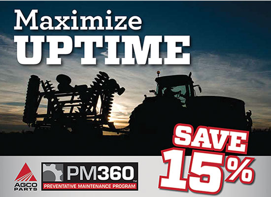 Winter service save 15% at Hanlon Ag Centre in Lethbridge Alberta. Do you need a preventative maintenance inspection on you tractor, sprayer, swather or baler? For a limited time we're having a sale on winter service inspections. Contact our service department today for details.