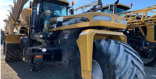 2019 Terragator TG8300C floater with low hours on sale at Hanlon Ag Centre in Lethbridge, Alberta. Features 365 horsepower, advanced cab package, camera w/9