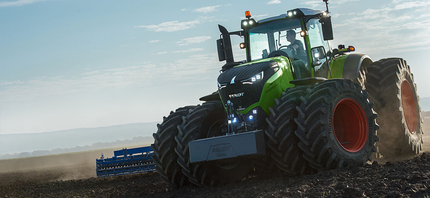 New Fendt 1000 series tractors for sale at Hanlon Ag Centre in Lethbridge, Alberta, Canada. View models Fendt 1038, Fendt 1042, Fendt 1046 and Fendt 1050. These high horsepower tractors are designed for heavy draft work while providing excellent fuel efficiency and optimal comfort. Fendt tractors come with one of the best warranties in the industry. Financing options are available.