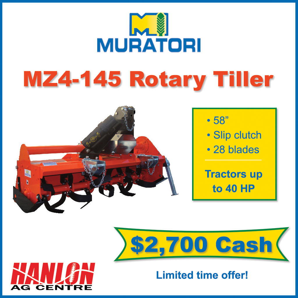 Save on this Muratori MZ4 tiller for sale in Lethbridge, Alberta, Canada. View our selection of Muratori compact and utility tractor attachments.