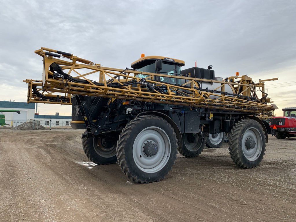 Used Rogator 1300 RG1300 for sale at Hanlon Ag Centre in Lethbridge, Alberta. Special financing offer for the month of April. Depend on us for quality used farm equipment in southern Alberta and Western Canada. Used application equipment for sale.